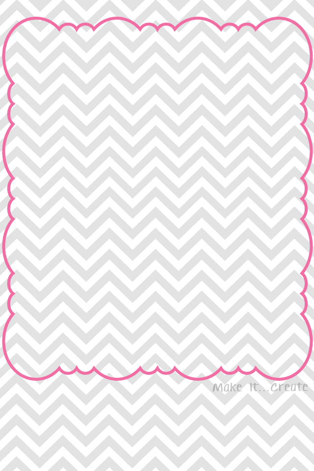 Wallpapers Chevron BorderedGray Pink Gray Aqua Gray Orange 640x960