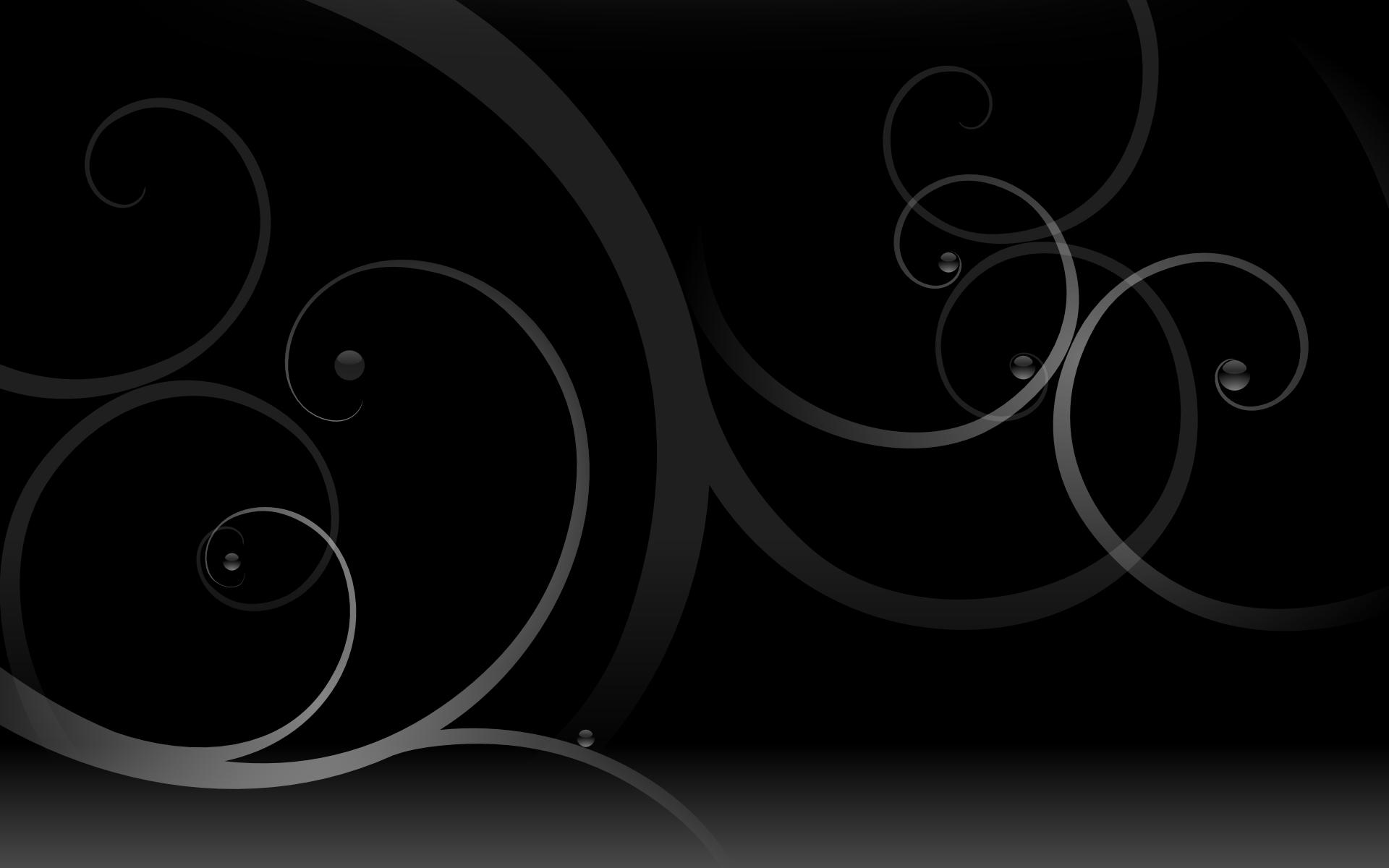 Black swirls wallpaper   73530 1920x1200