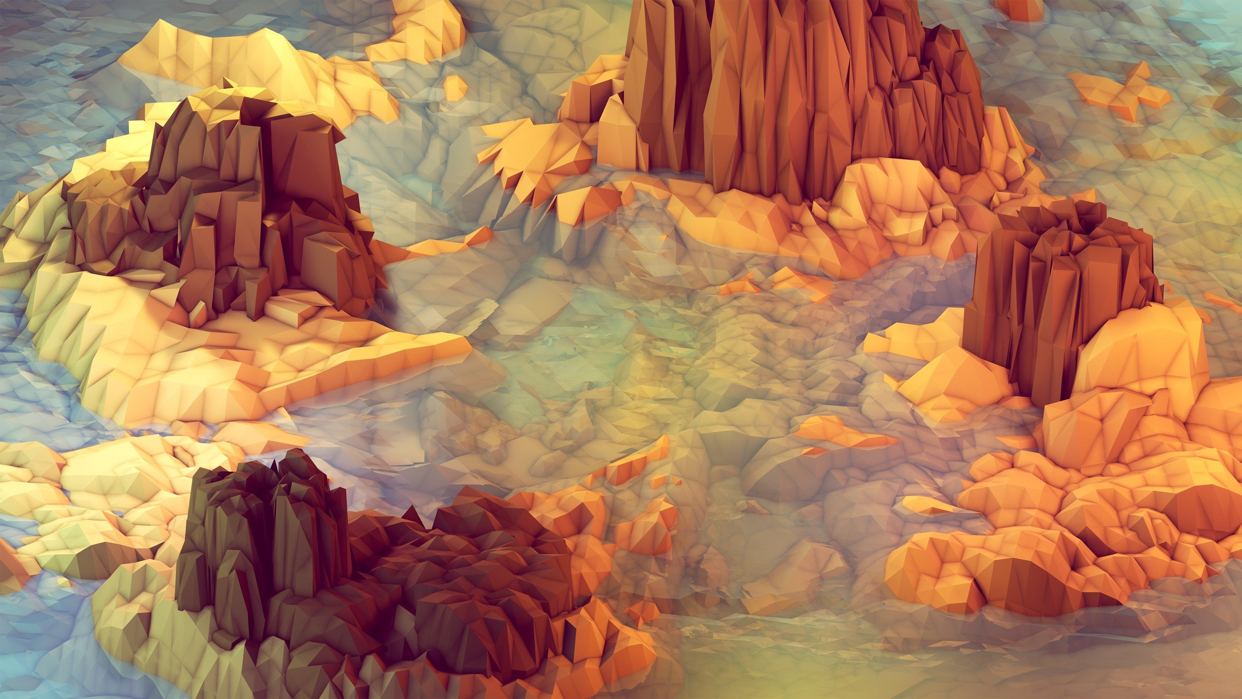 Get 20 Stellar Quad HD Low Poly Wallpapers For Android iOS and 2560x1440