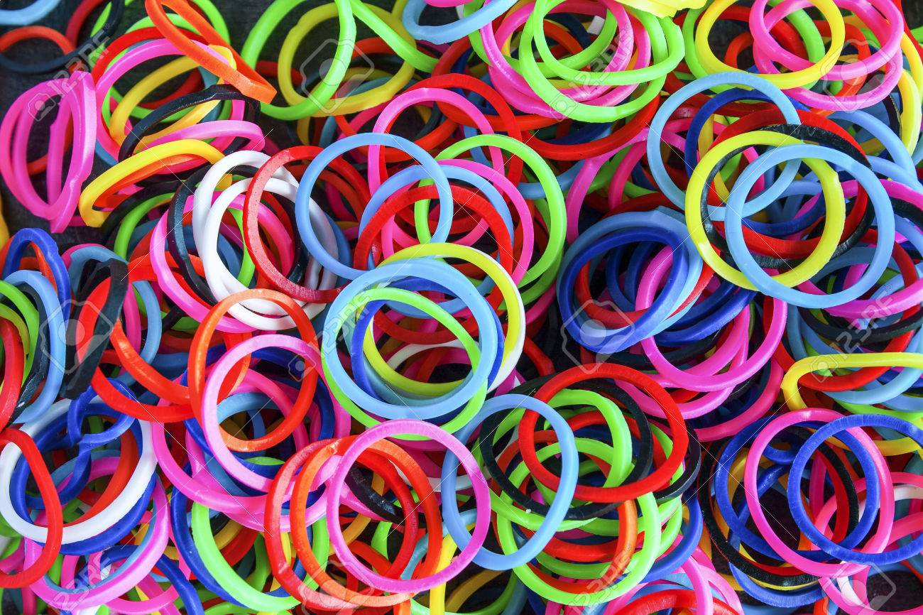 Colorful Background Rainbow Loom Rubber Bands Fashion Stock Photo 1300x866
