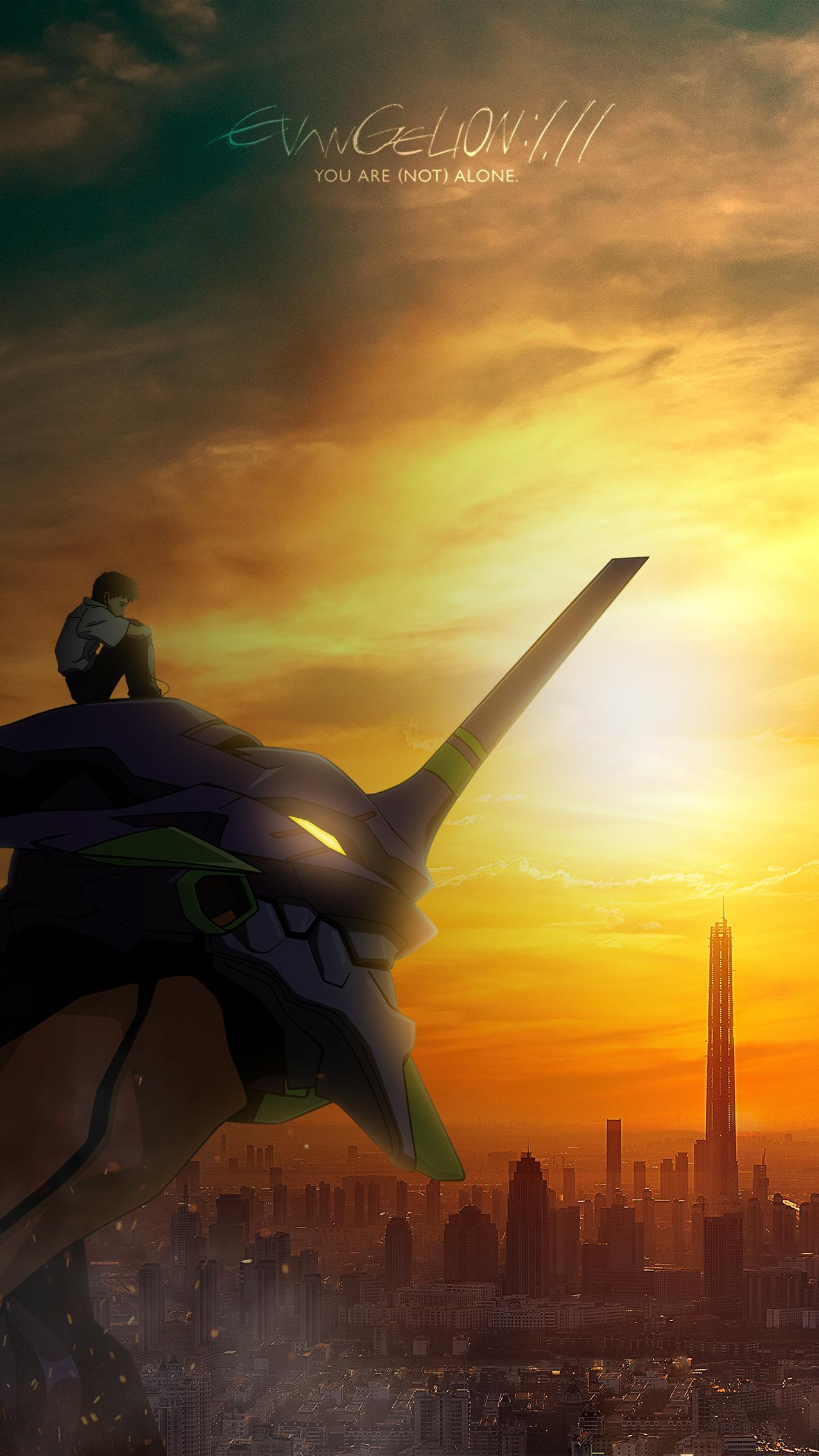 Evangelion You Are Not Alone phone wallpaper evangelion 1276x2268