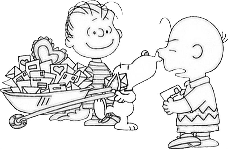 charlie brown valentine coloring pages charlie brown christmas