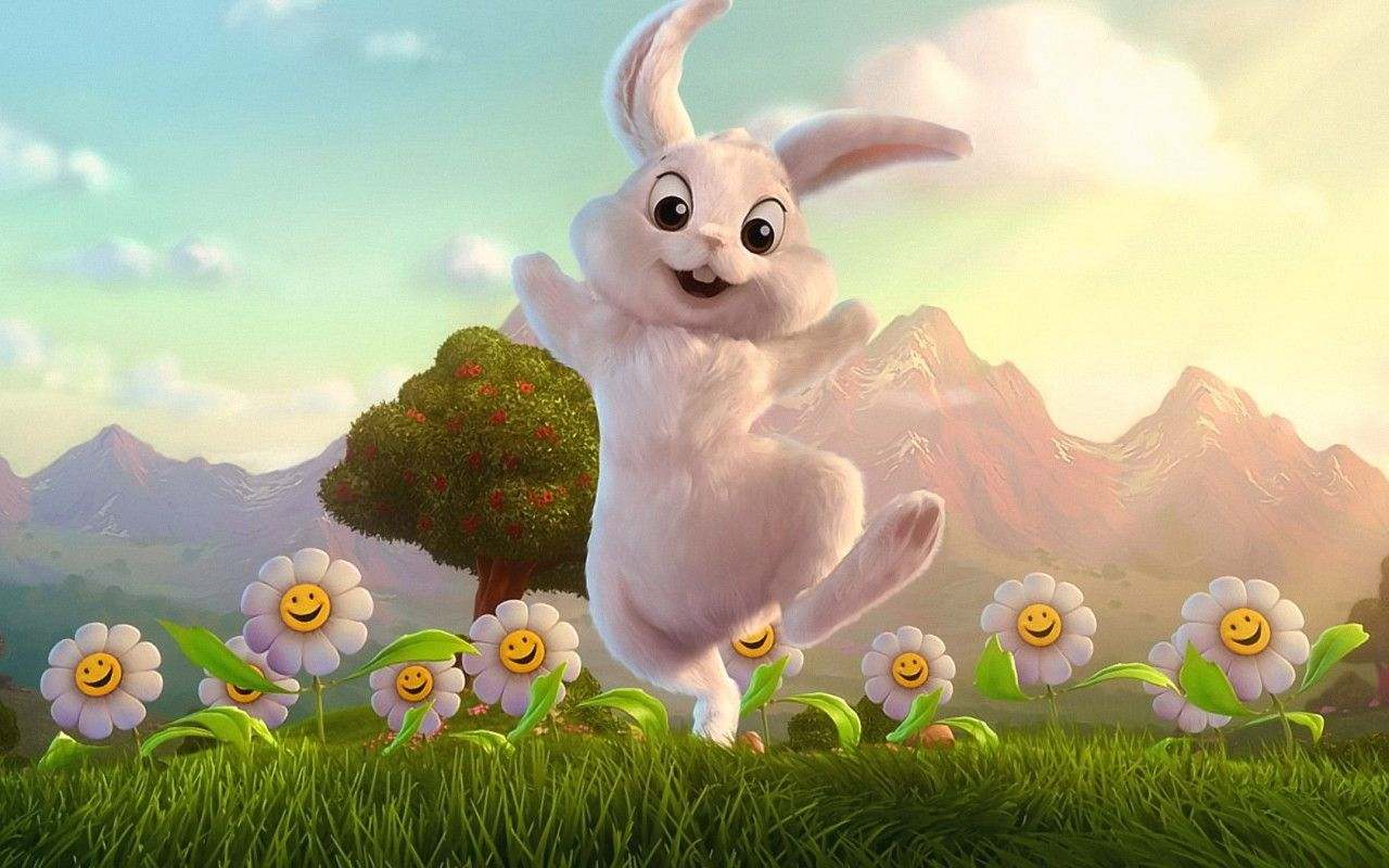 CUTE EASTER BUNNY WALLPAPER   2827   HD Wallpapers 1280x800