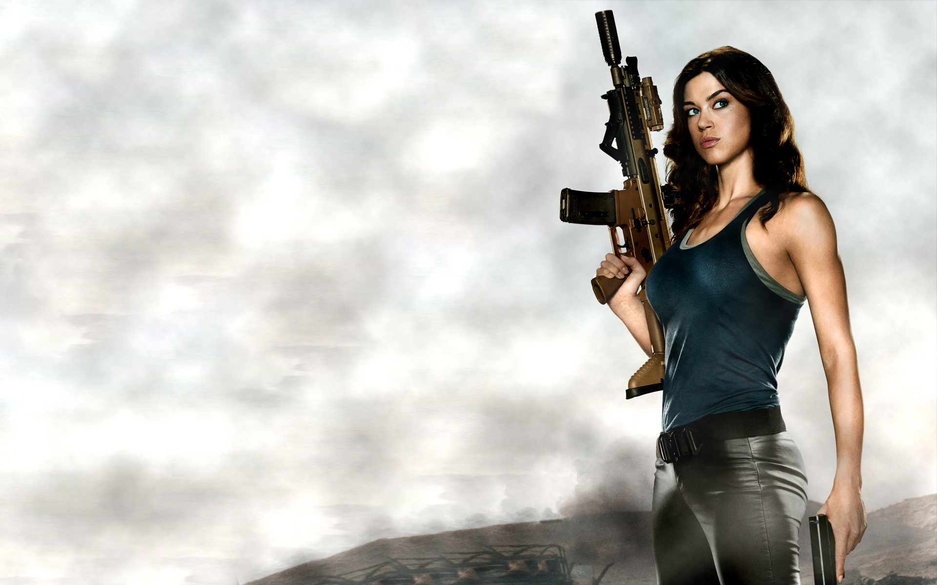 guns rifles machine guns women females girls sexy sensual babes 1920x1200