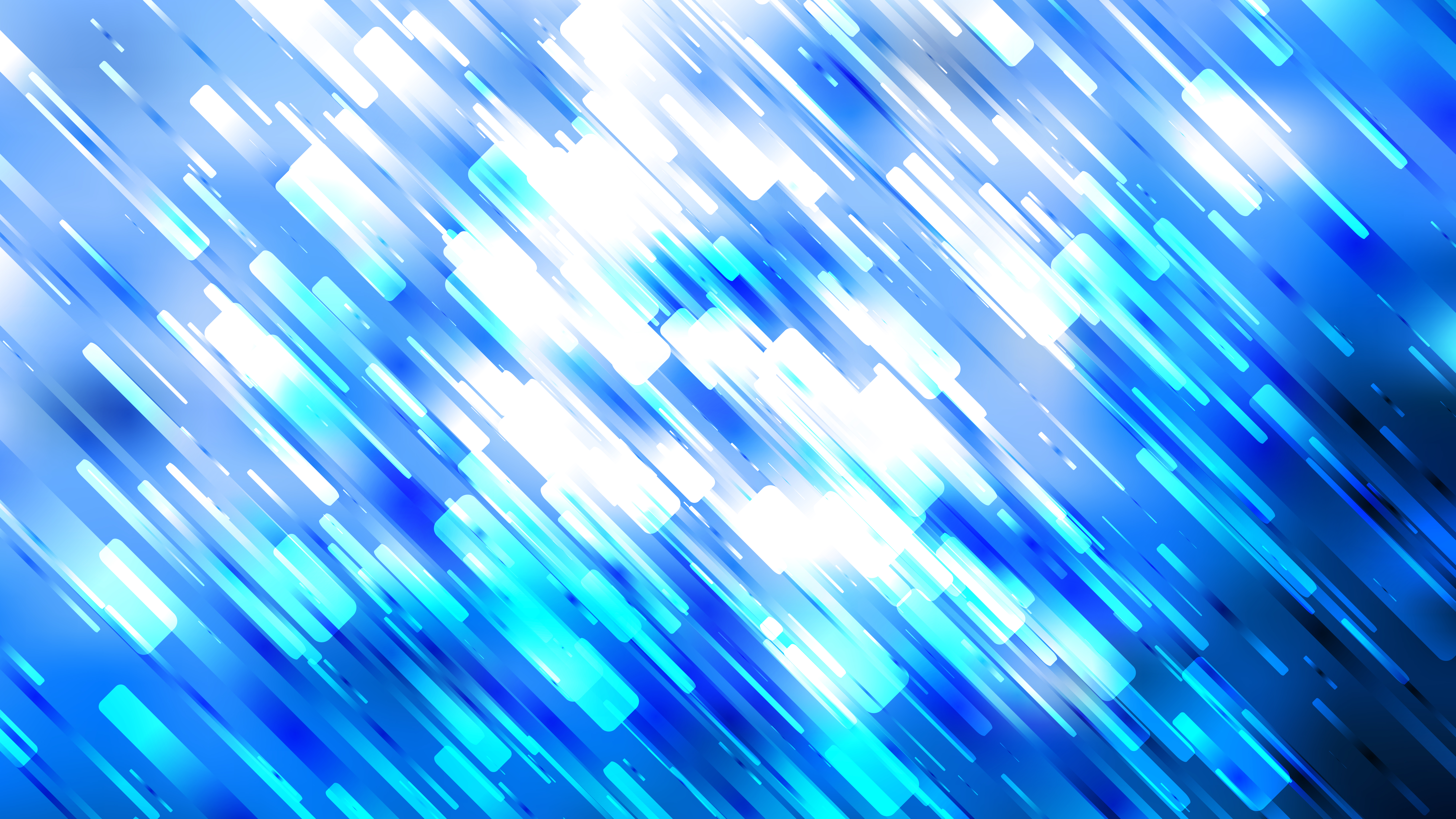 Abstract Blue and White Random Diagonal Lines Background 8000x4500