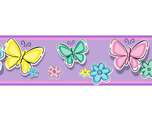 Home Bedtime Butterfly Peel and Stick Wall Border 500x400