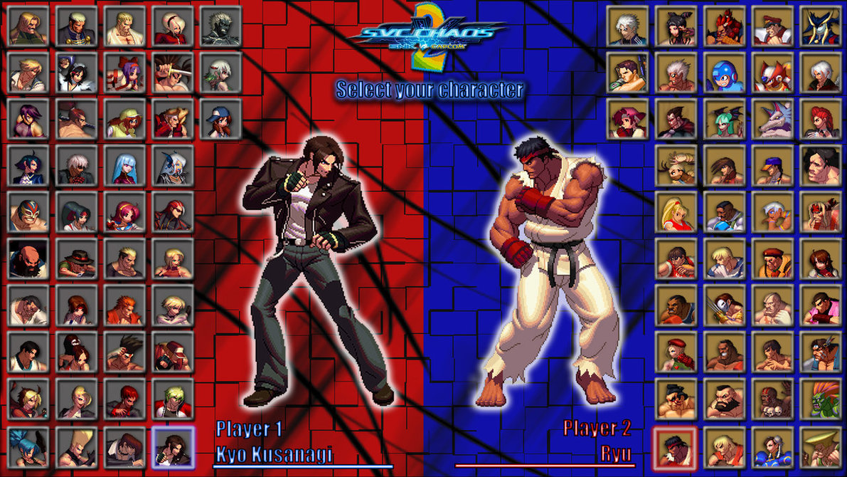 Free Download Snk Vs Capcom 2 Character Select Screen By Mrjechgo
