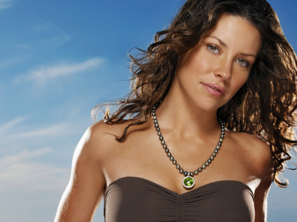1024x768 Evangeline Lilly face desktop PC and Mac wallpaper 1024x768