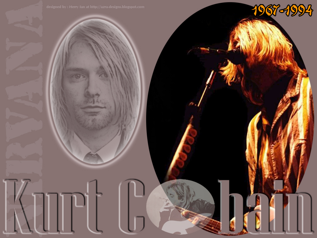 Kurt Cobain   Desktop Wallpaper 01 by herry1an 1024x768