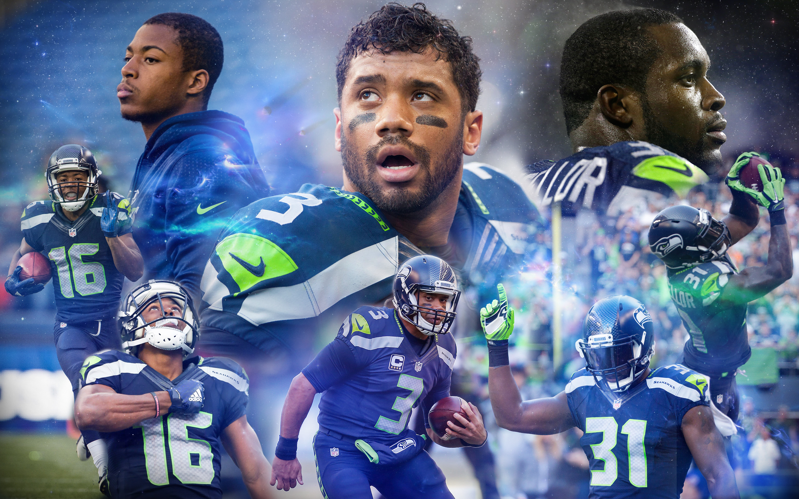 Seahawks Wallpaper edit i did for a friend photos are not my own 2560x1600