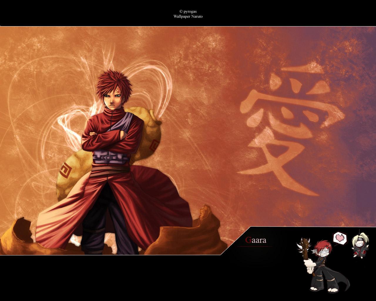 Naruto Characters Gaara 1280x1024
