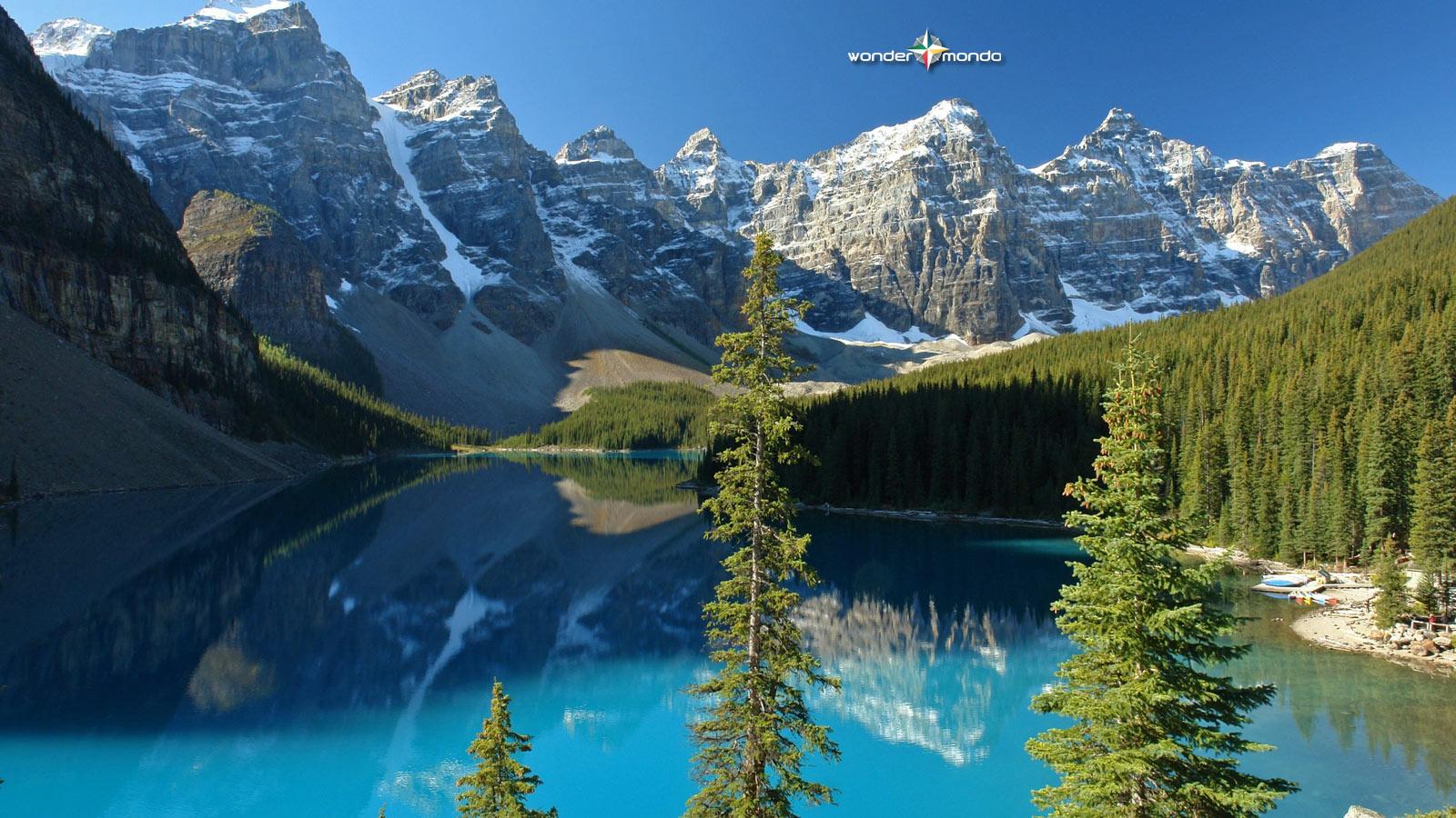 Wallpaper with Moraine Lake Canada Wondermondo 1600x900