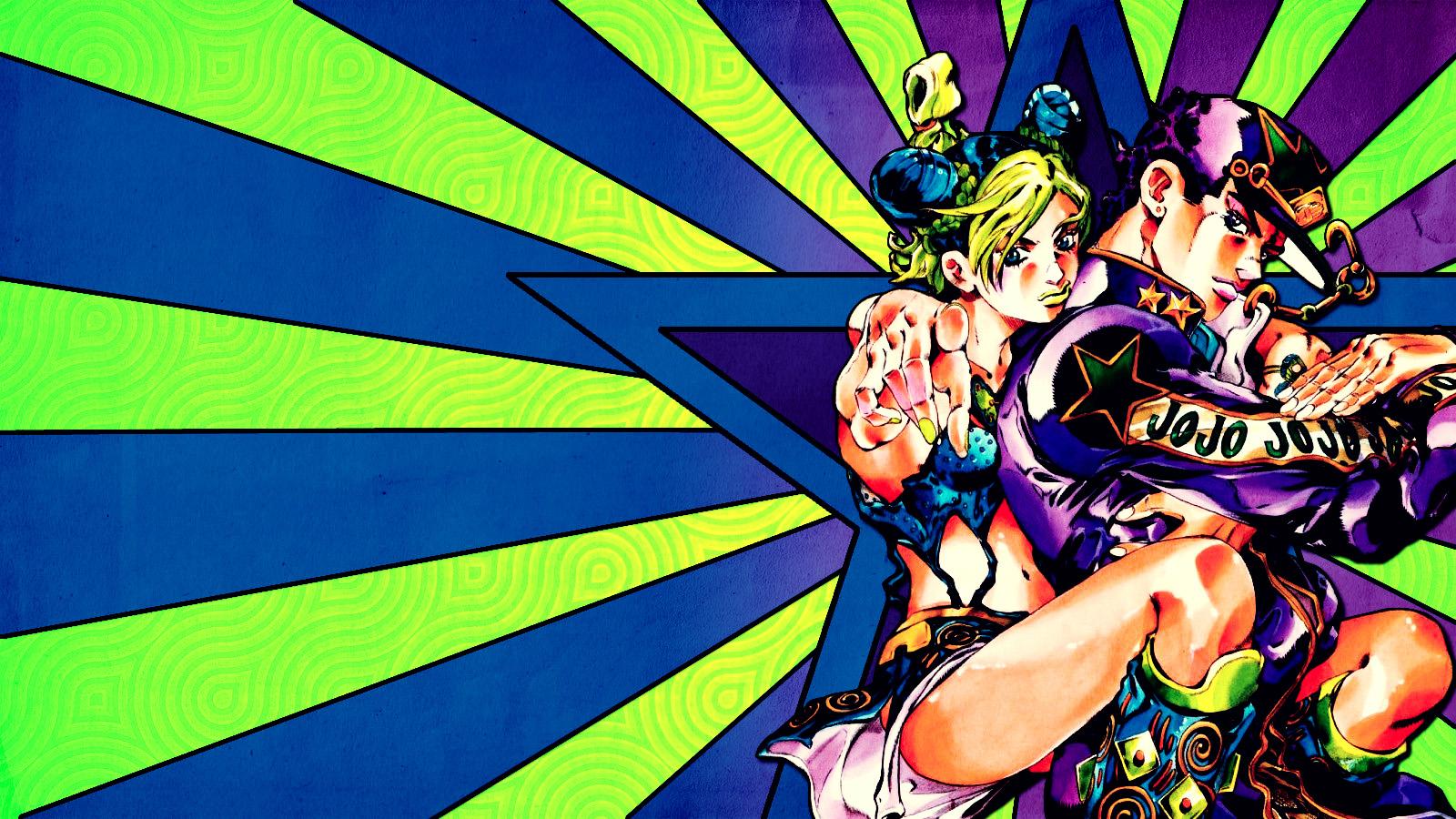 jotaro and jolyne wallpaper by franky4fingersx2 fan art wallpaper 1600x900
