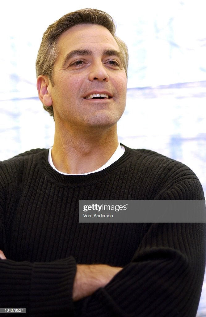George Clooney during Solaris Press Conference with George Clooney 667x1024