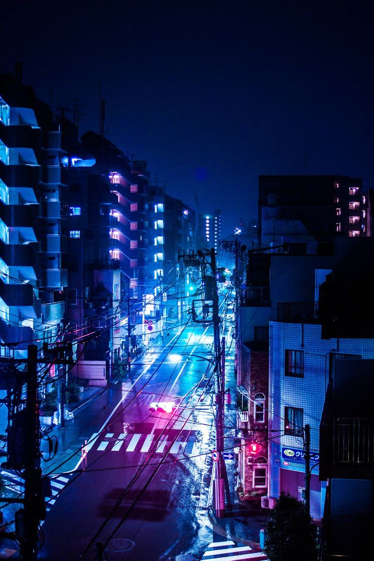 A rainy night in Tokyo Japan With images Anime city City 736x1104