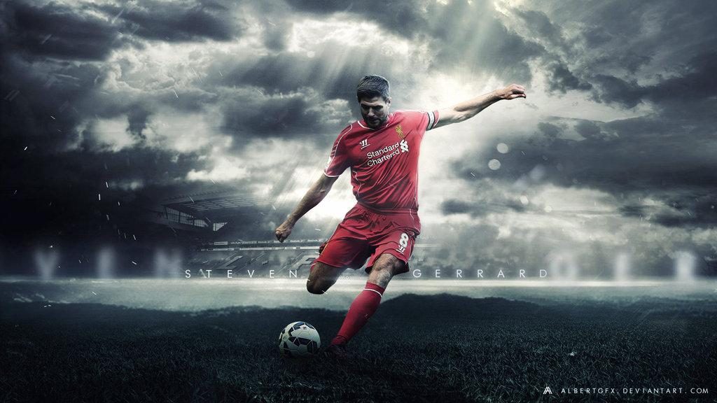 Steven Gerrard 201415 Wallpaper Liverpool FC by AlbertGFX on 1024x576