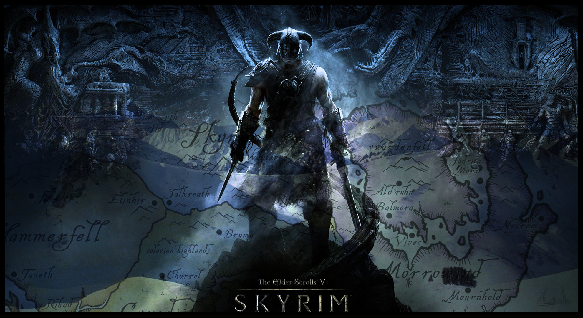 skyrim 1980 x 1040 wallpaper - photo #1
