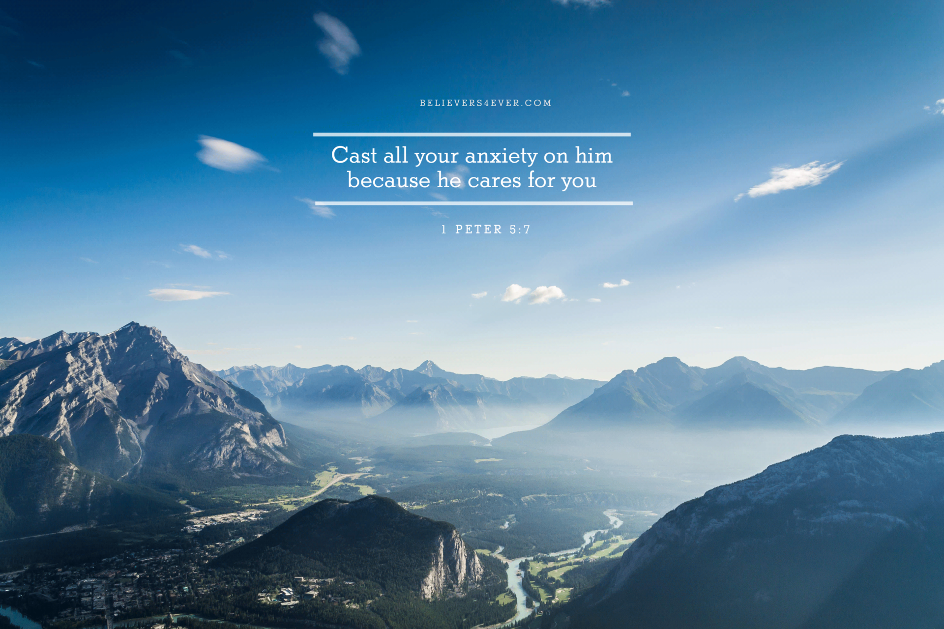 Cast All Your Anxiety On Him Christian Wallpaper Hd   Desktop 1920x1280