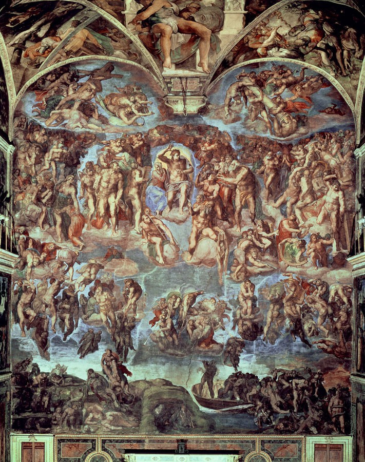 Sistine Chapel The Last Judgement Mural By Michelangelo 711x900