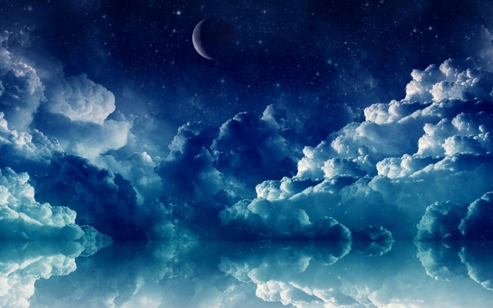 1680x1050 Pretty Blue Night desktop PC and Mac wallpaper 1680x1050