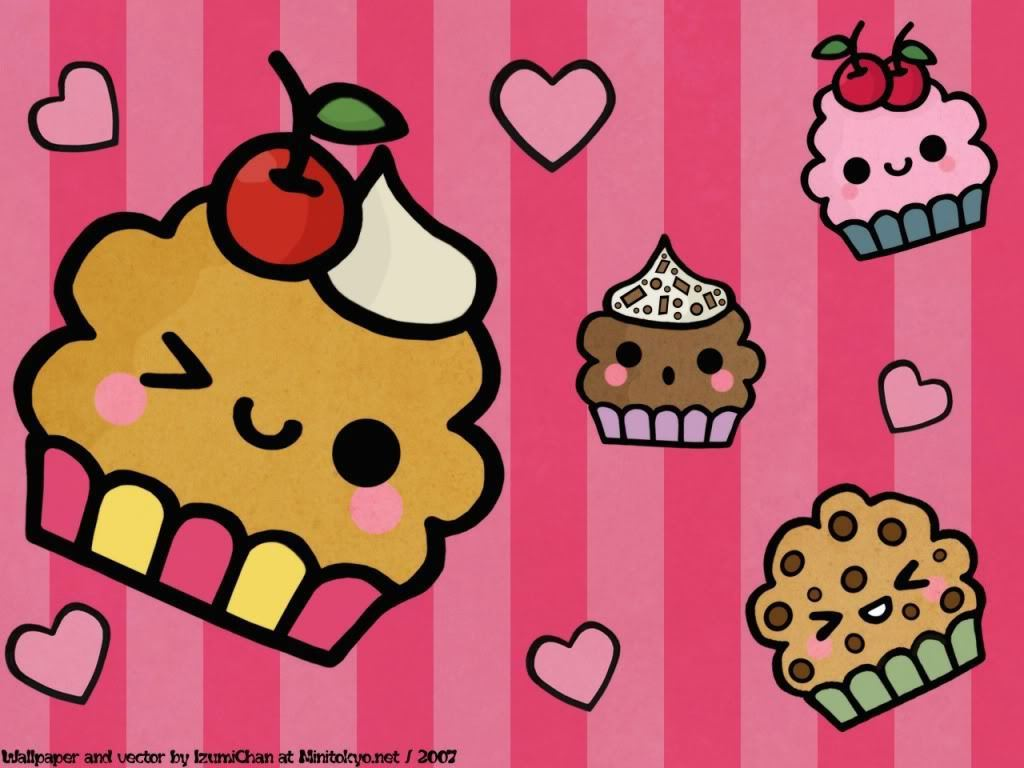 cute   Cupcakes Wallpaper 21286575 1024x768