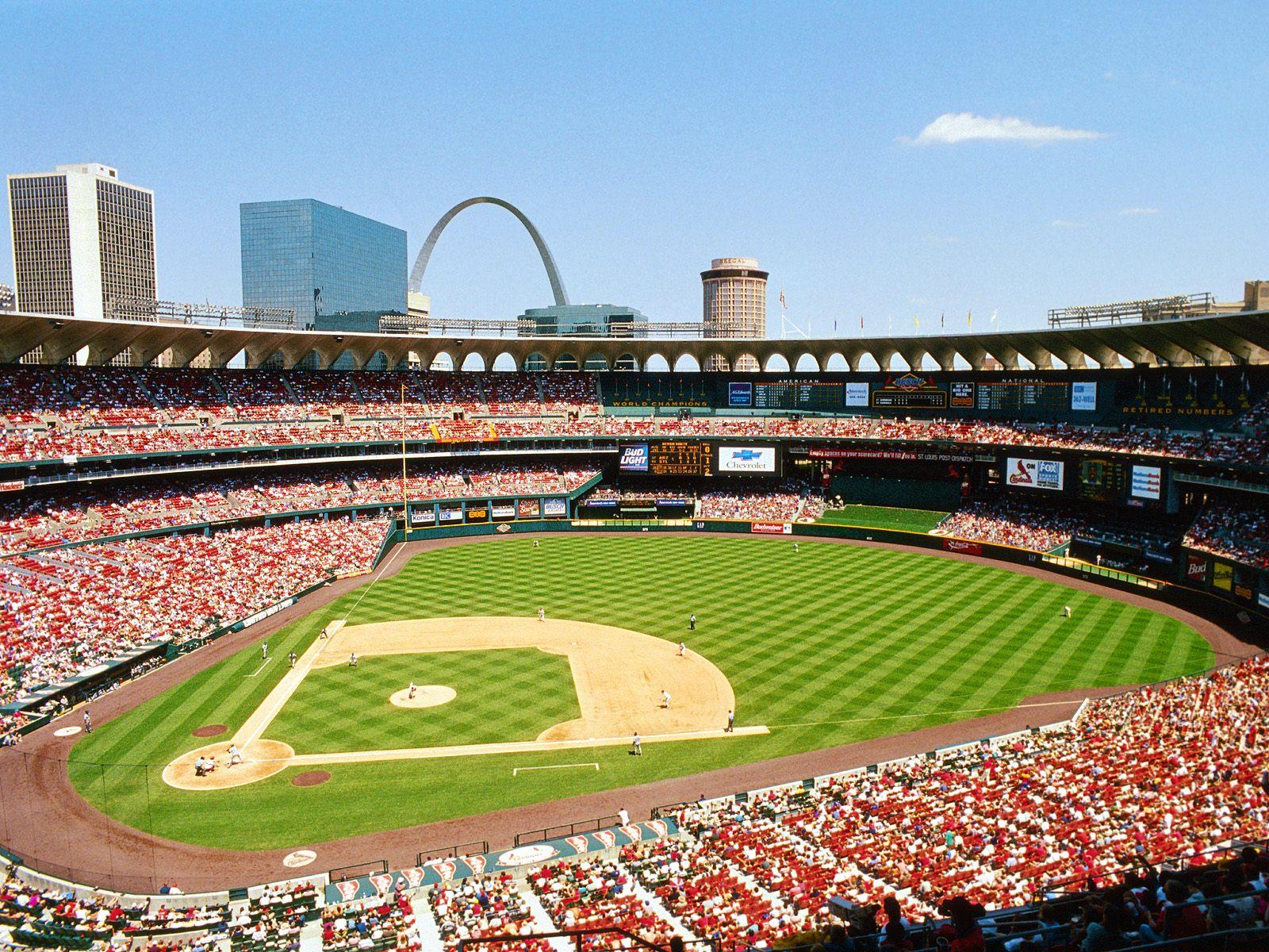 Busch Stadium St Louis Missouri   Sports Wallpaper Image featuring 1600x1200