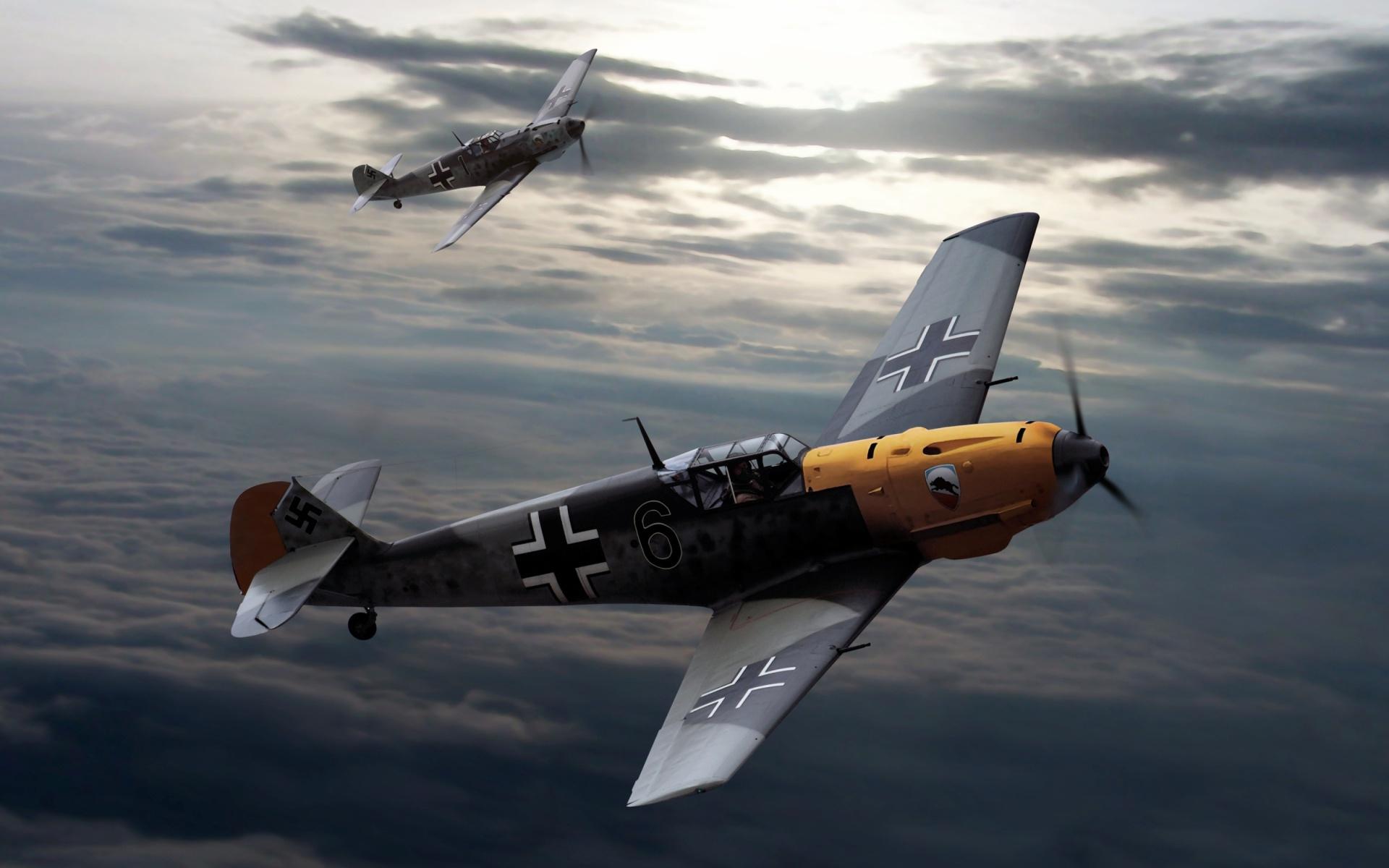Wwii fighter planes wallpapers 1920x1080 wallpapersafari messerschmitt bf 109 german world war ii fighter aircraft wallpaper 1920x1200 altavistaventures Image collections