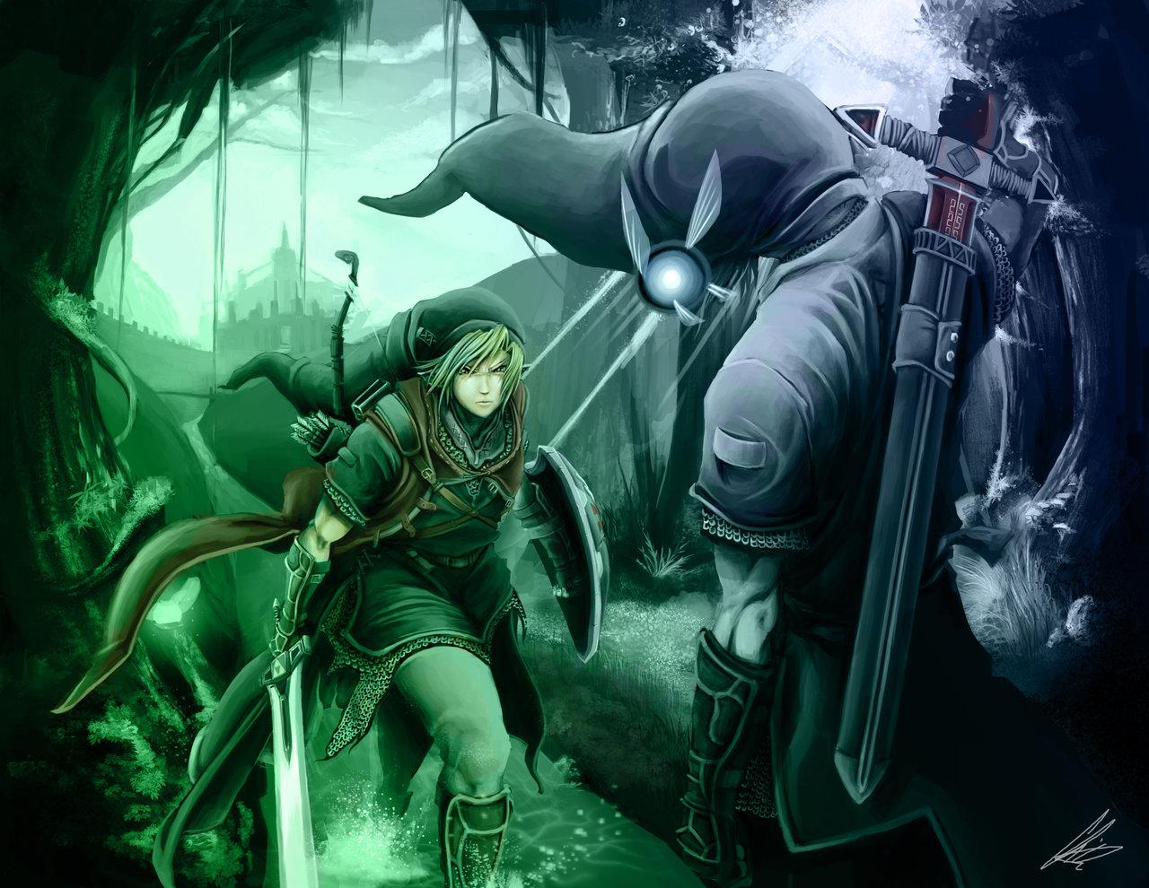 Link vs Dark Link by RazerChris 1280x990