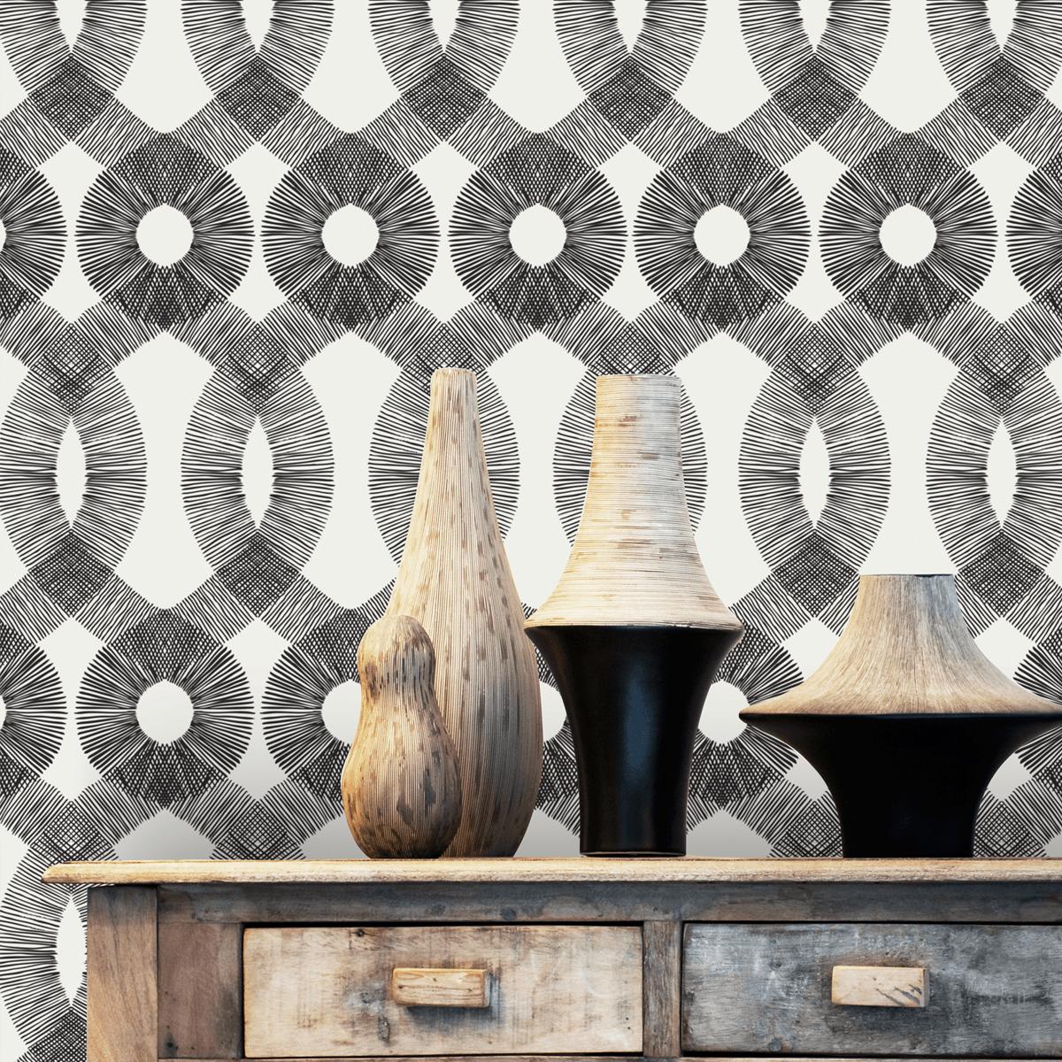 Spiro Spiral Pattern Retro Chic Wallpaper By Kreme Life 1200x1200