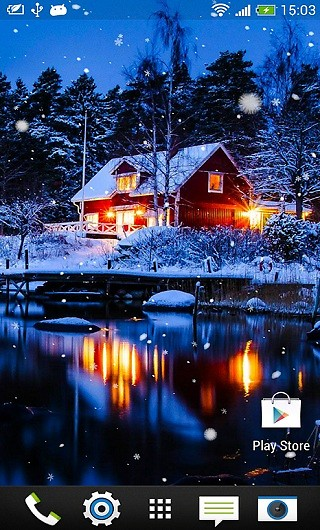 Winter Snow Live Wallpaper Android Live Wallpaper download 320x530