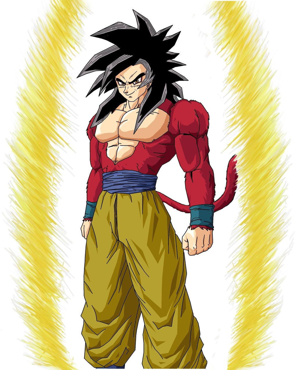 47 Goku Super Saiyan 4 Wallpaper On Wallpapersafari