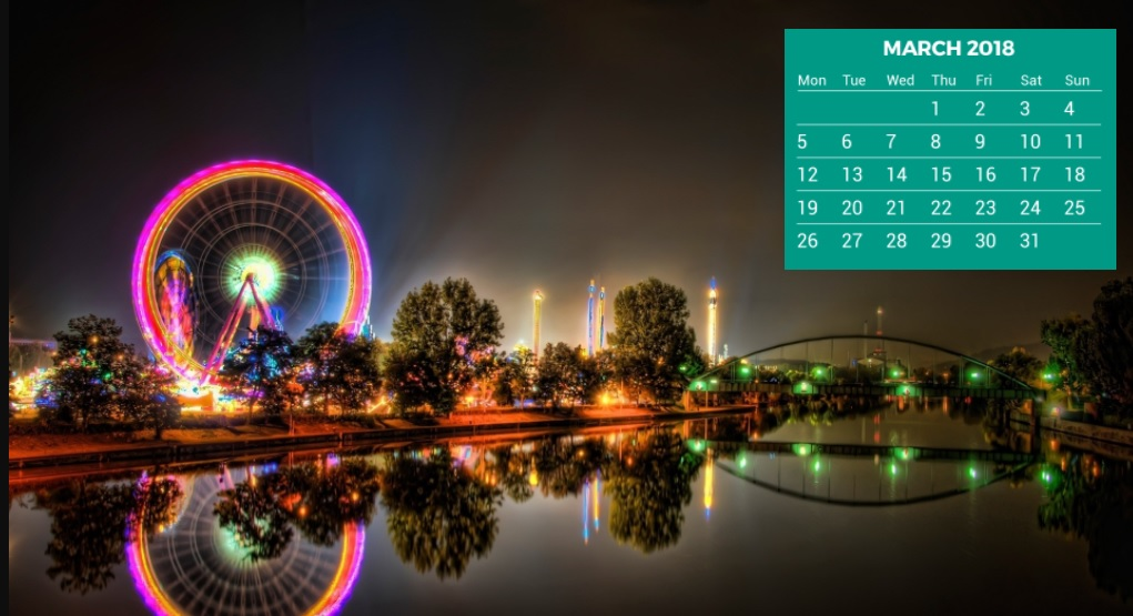 2018 Calendar HD Wallpapers Calendar 2018 1021x555