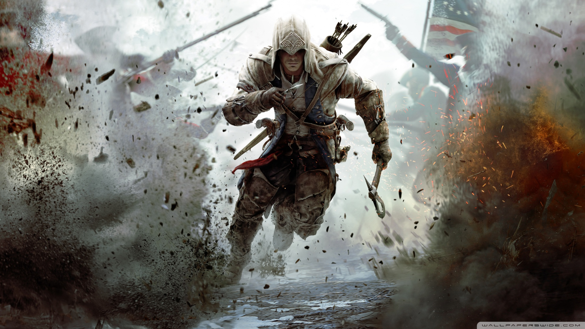 Creed 3 Connor Running Wallpaper 1920x1080 Assassins Creed 3 1920x1080