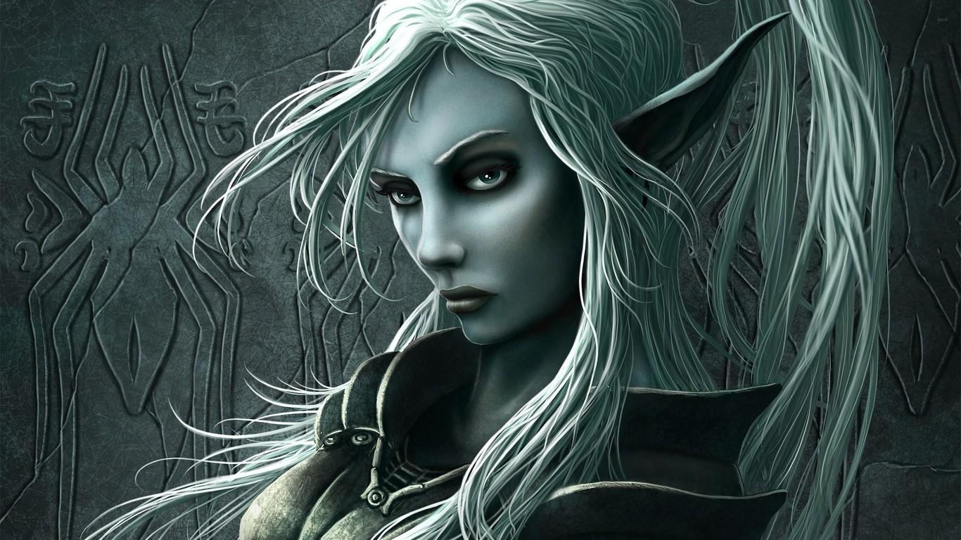 Elf woman wallpaper 15332 1366x768