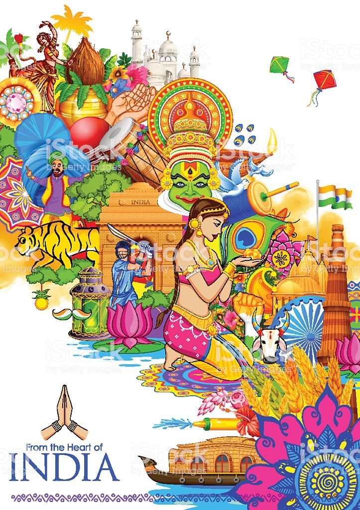 India Background Showing Its Culture And Diversity Stock 723x1024