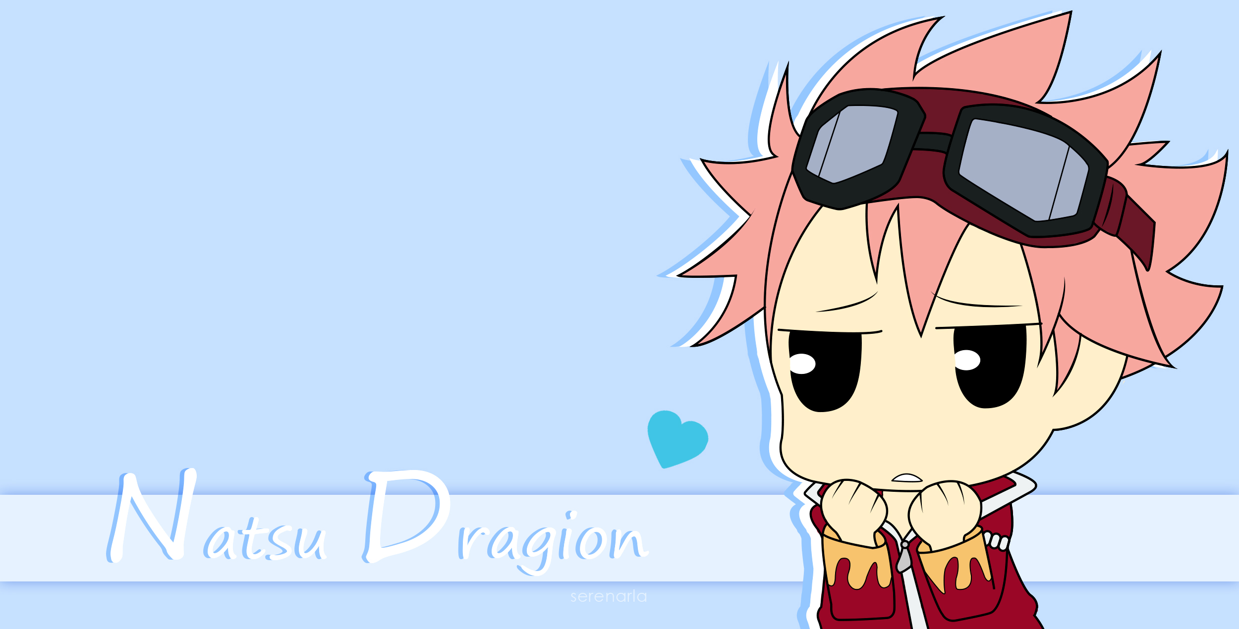 Chibi Natsu Dragion   Fairy Tail [Photoshop] by Serenarla on 2500x1270