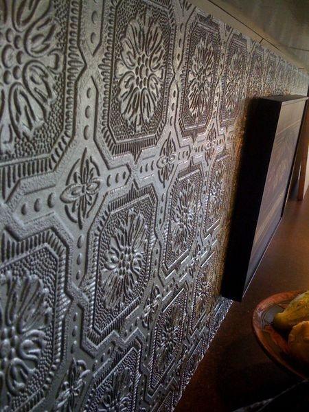 painted wallpaper backsplash For the Home Pinterest 450x600