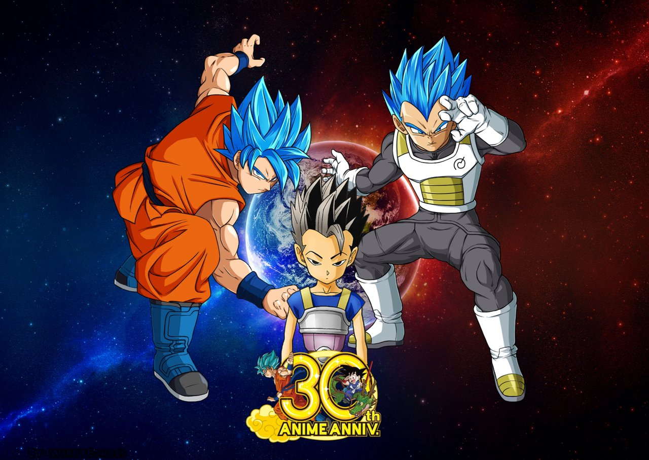 Dragon Ball Super Wallpaper 2   30th Anniversary by WindyEchoes on 1280x907