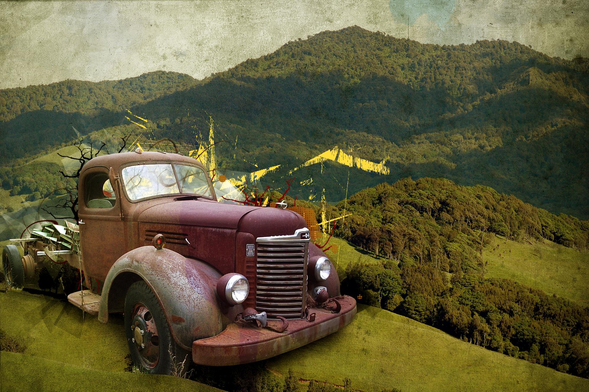 Old Trucks Wallpaper Rusty truck 1 dirty scarab 2000x1330