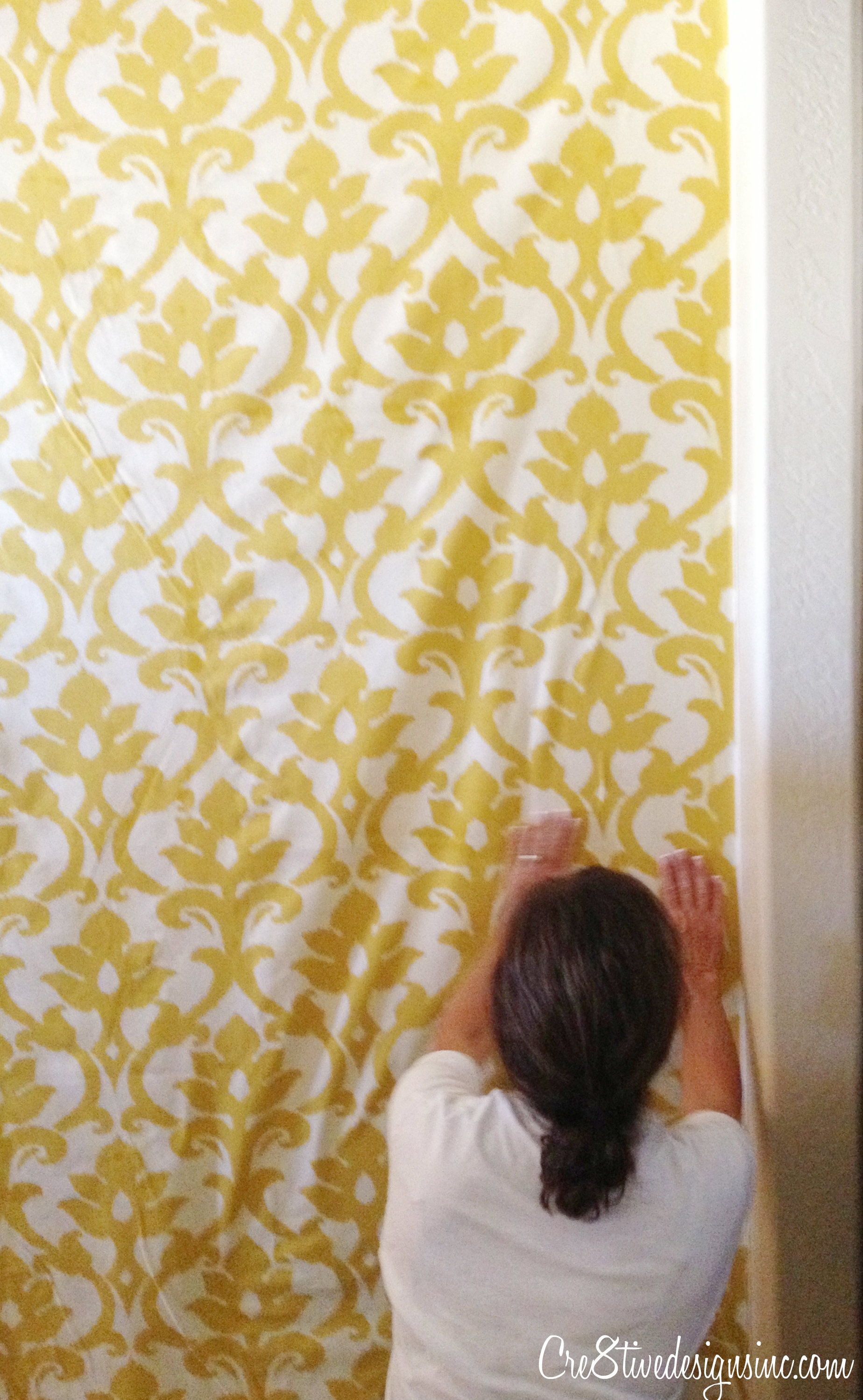 How to wallpaper with fabric using starch   Cre8tive Designs Inc 1848x2997