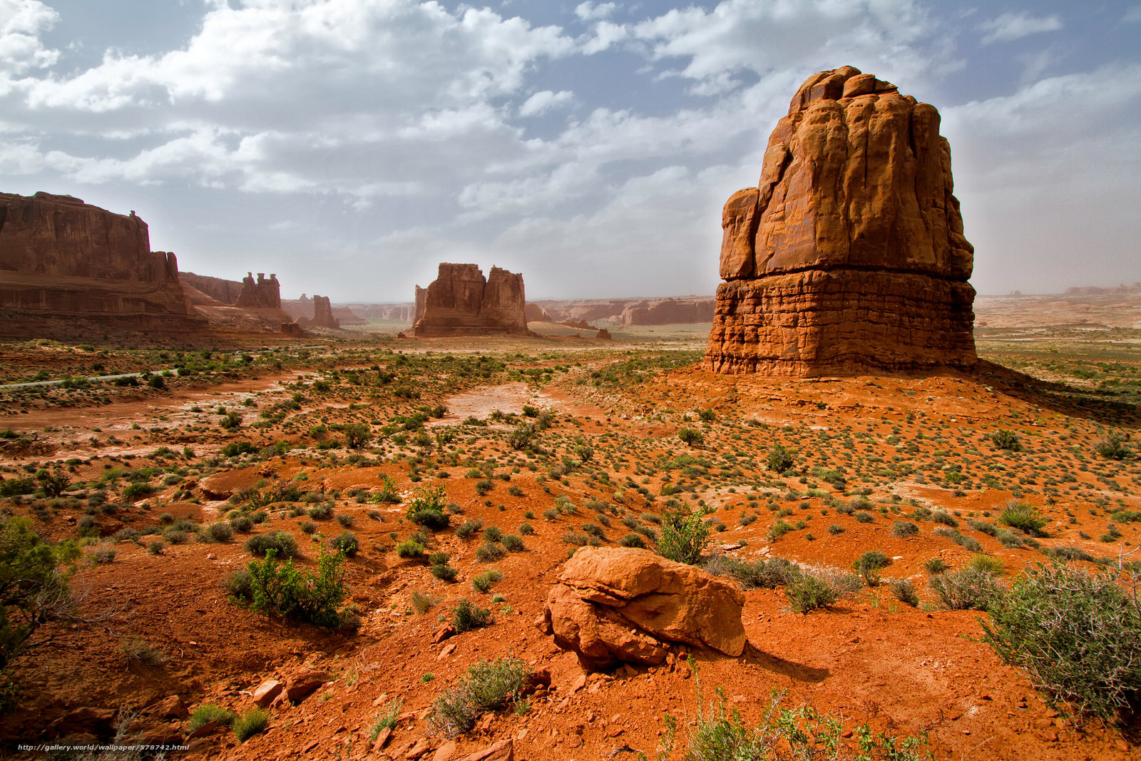Download wallpaper Arches National Park Utah Mountains Rocks 1200x800