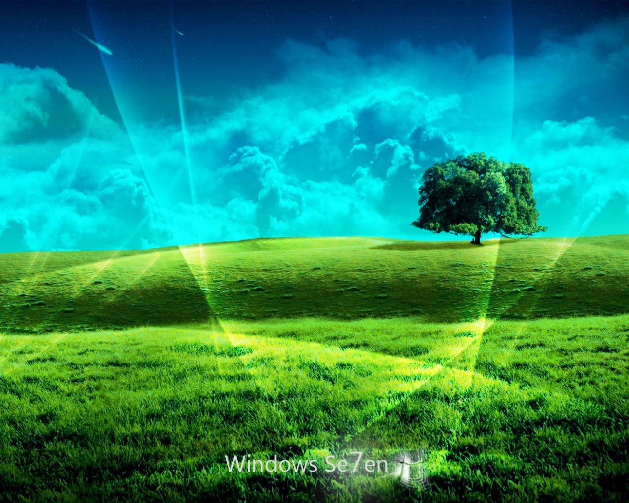 1280x1024 Windows 7 plain desktop PC and Mac wallpaper 1280x1024