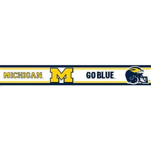 RB MGO Michigan Wolverines 5 5 inch H Wallpaper Border   Walmartcom 500x500