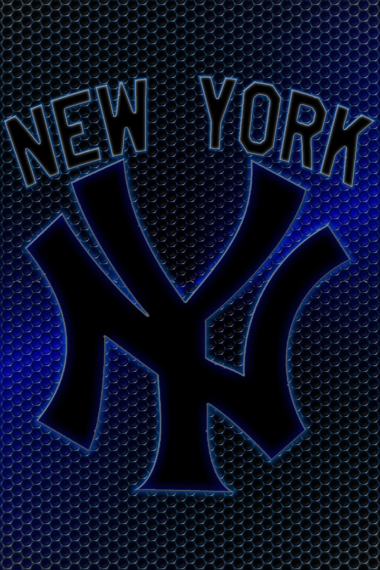 New York Yankees Logo Grid Wallpaper Download Wallpaper 1334x2000