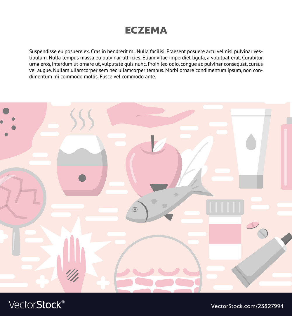 Eczema concept background in flat style with place 1000x1080
