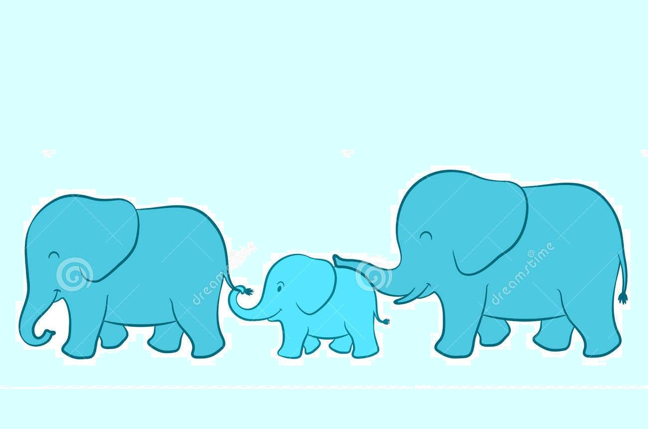 Free Download Pin Cute Cartoon Elephant Family 1300x860 For Your