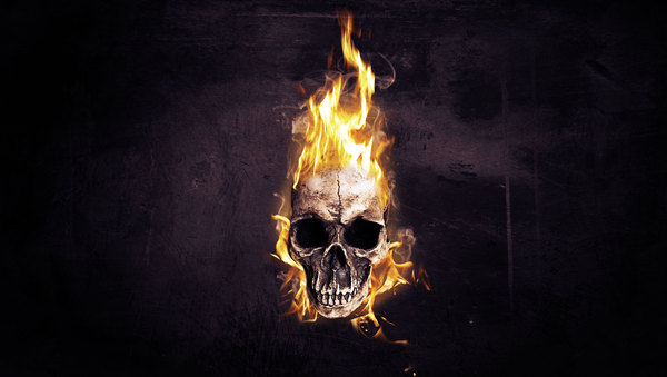 Flaming Skull Wallpapers for Halloween on Behance 600x339