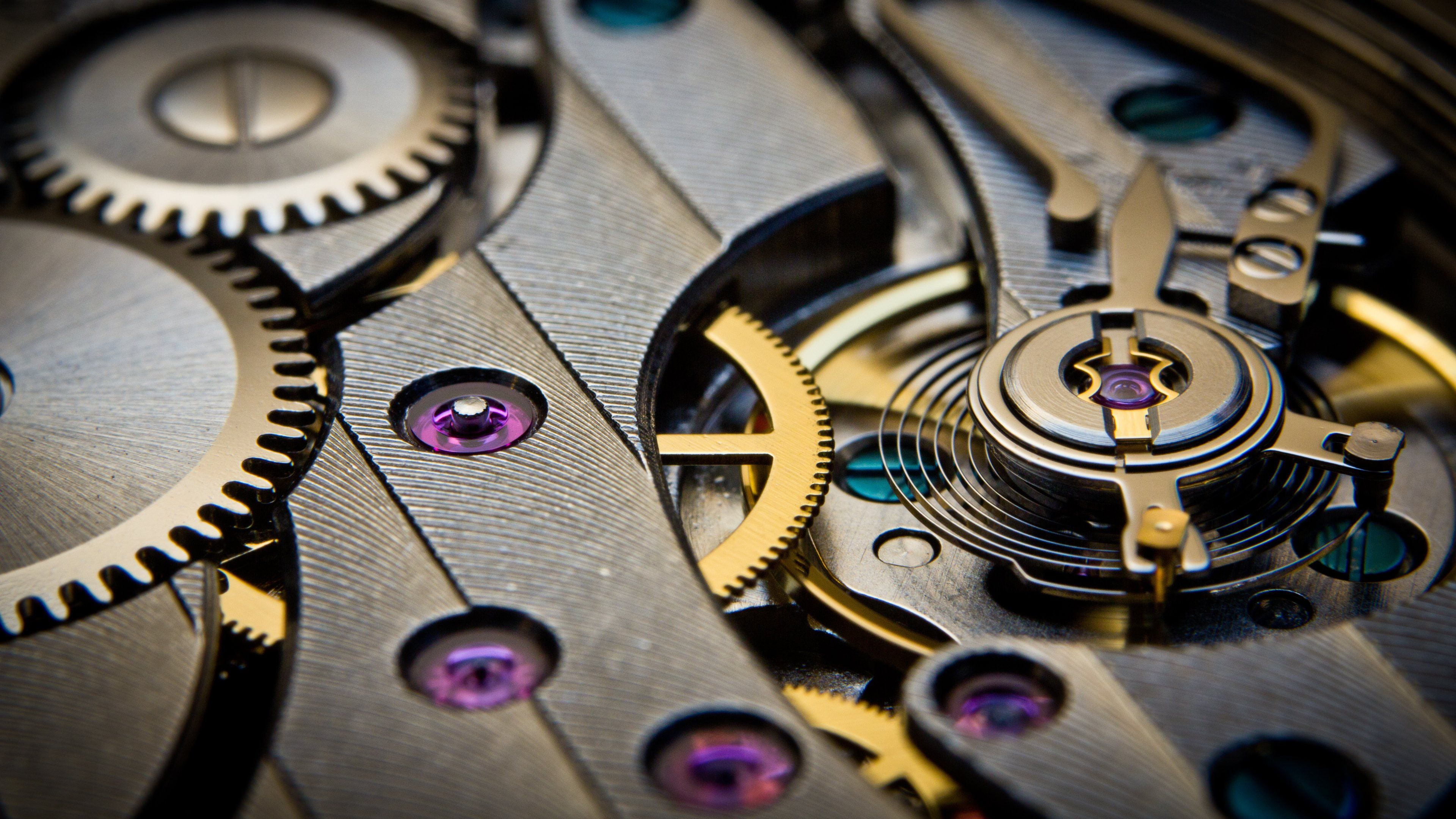 Mechanical Gears Movement Watch Time Wallpapers Images Uhd 3840x2160