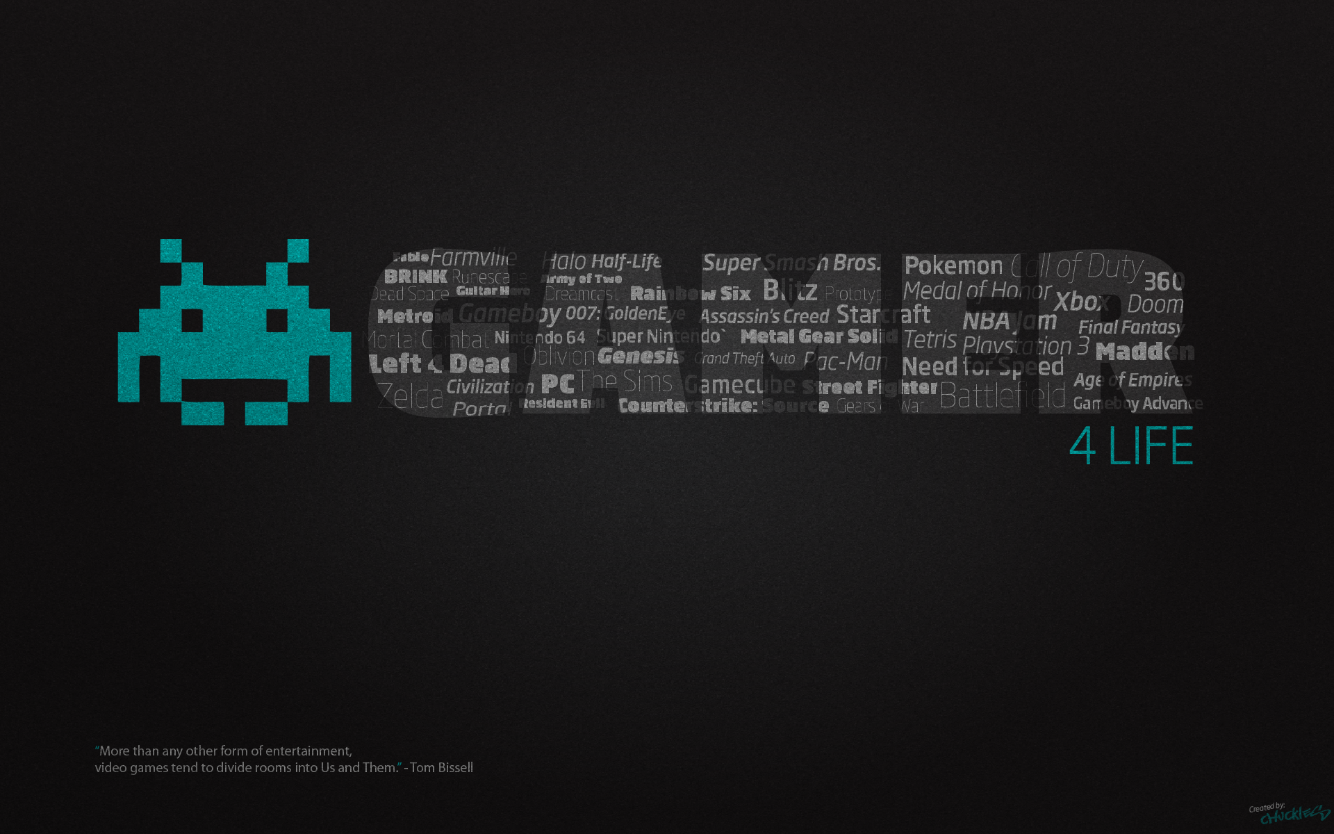 Gamer for Life Desktop Wallpaper 1920x1200 by ChucklesMedia on 1920x1200