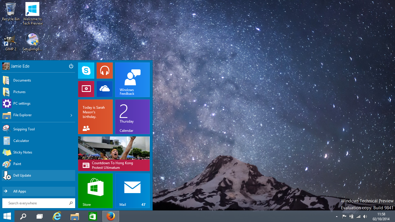 Jamie Ede Blog Windows 10 Windows Technical Preview Initial 1366x768